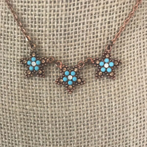 """Jewelry - Rose Gold Blue Star Necklace 14"""""""